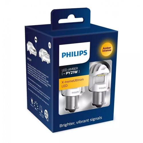 Philips PY21 LED with 2 external Canbus adapters X2 (старый номер 12764X2)