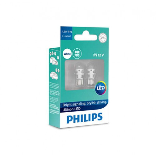 Philips 11961ULWX2 T10 (W5W) LED Ultinon 6000K 12V комплект 2шт
