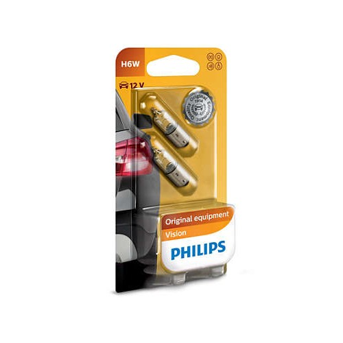 Philips 12036B2 H6W BP 12V 6W блистер 2шт