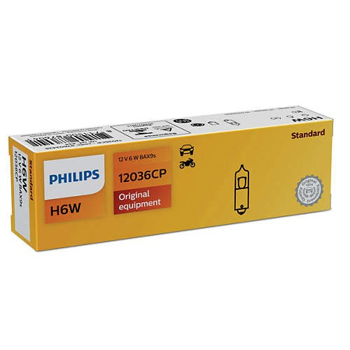 Philips 12036CP H6W BP 12V 6W автолампа